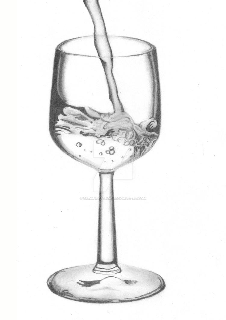 Wine glass by creativoschool on deviantart for How to draw on wine glasses