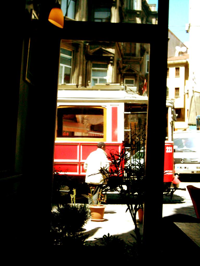 Wiev from a cafe window
