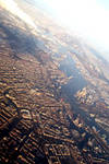 Amsterdam from the plane