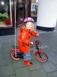 Little girl and her bike