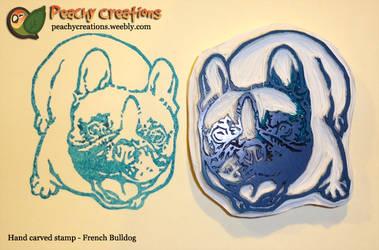French Bulldog stamp by FoxedFerret