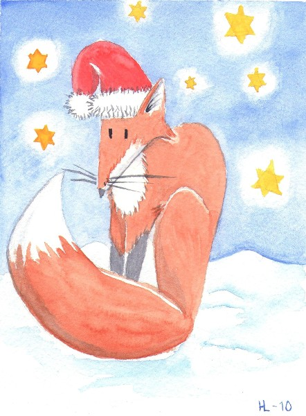 Christmas Fox by silveriatha