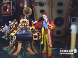 6th Doctor in his TARDIS