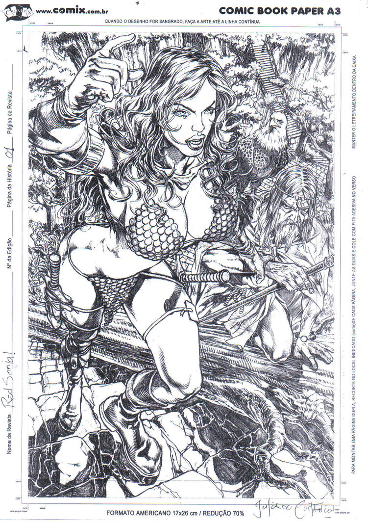 Red Sonja, page 01. by julianocstd