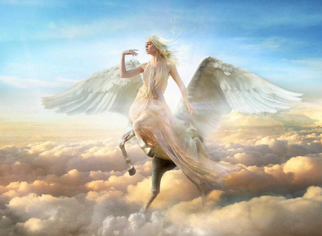 Luptatori si Monstri din alta Dimensiune  - Page 5 Pegaso_heavenly_angel_sunrise_by_fueledbypartii-d7w3yqz