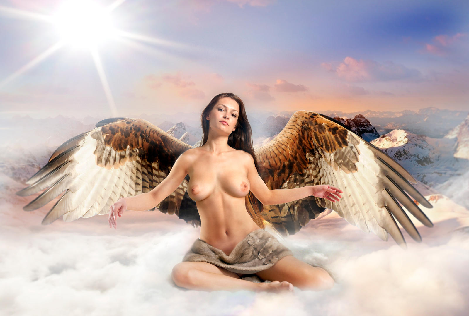 Hawkgirl , goddess of Valhalla by FueledbypartII