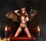 Evil Succubus Alexa by Lexlucas chained bikini