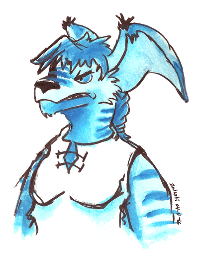Lazuli Watercolor by Zalcoti