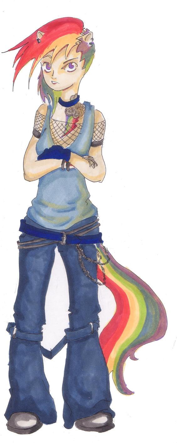 20% cooler rainbow Dash by MaddyNeko