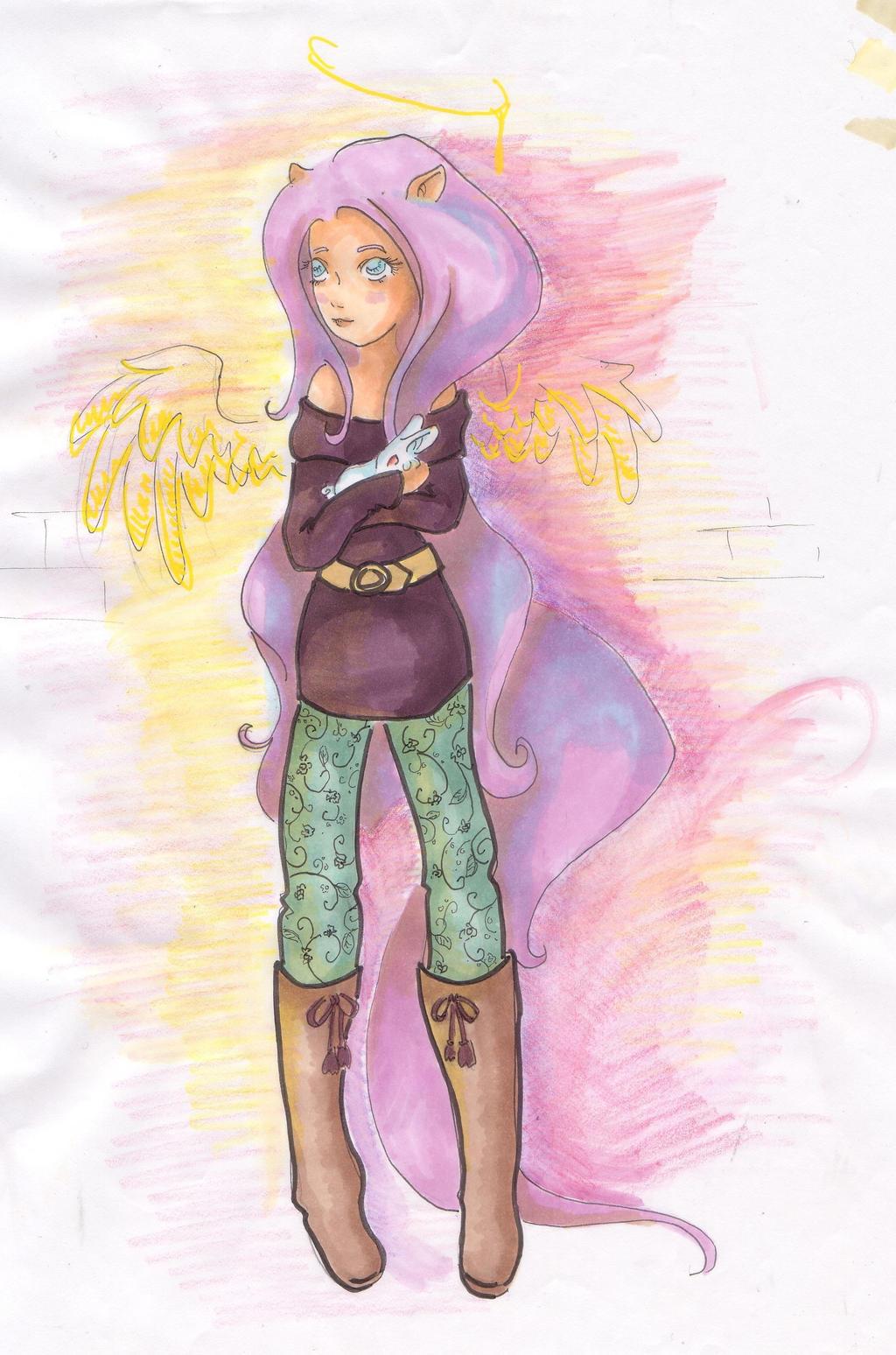 yeaaaah... Fluttershy by MaddyNeko