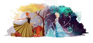 Elsa and Anna - Seasons
