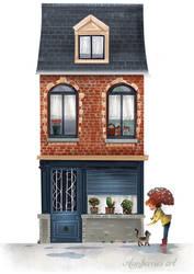 Red brick house by banana-fox