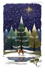 Christmas reindeer by banana-fox