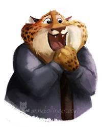 Agent Clawhauser by banana-fox