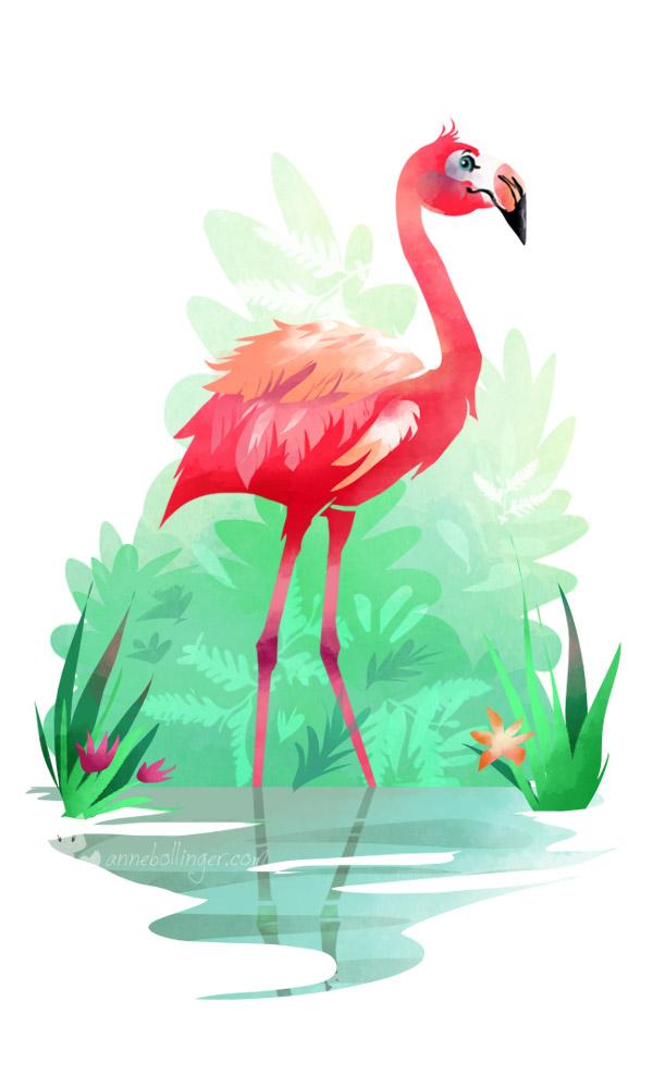 Flamingo by banana-fox