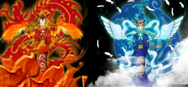 wind and fire dragons by nonafenon