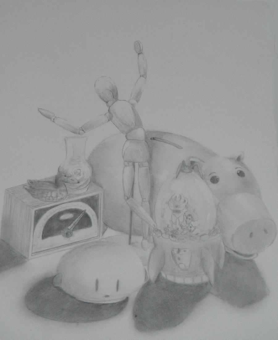 Still Life Drawing  - Still Life Drawing By Chocodragon Gxk