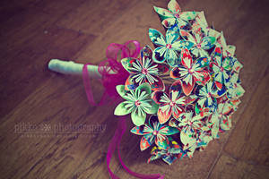 Origami Bouquet by Pikkochan