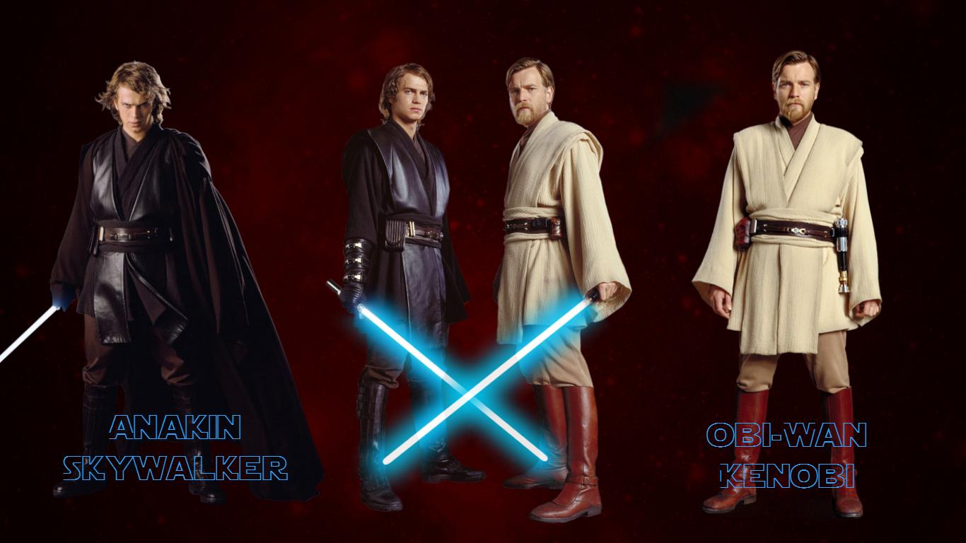 Anakin And Obi Wan Wallpaper 1 By Herocardboardcosplay On Deviantart