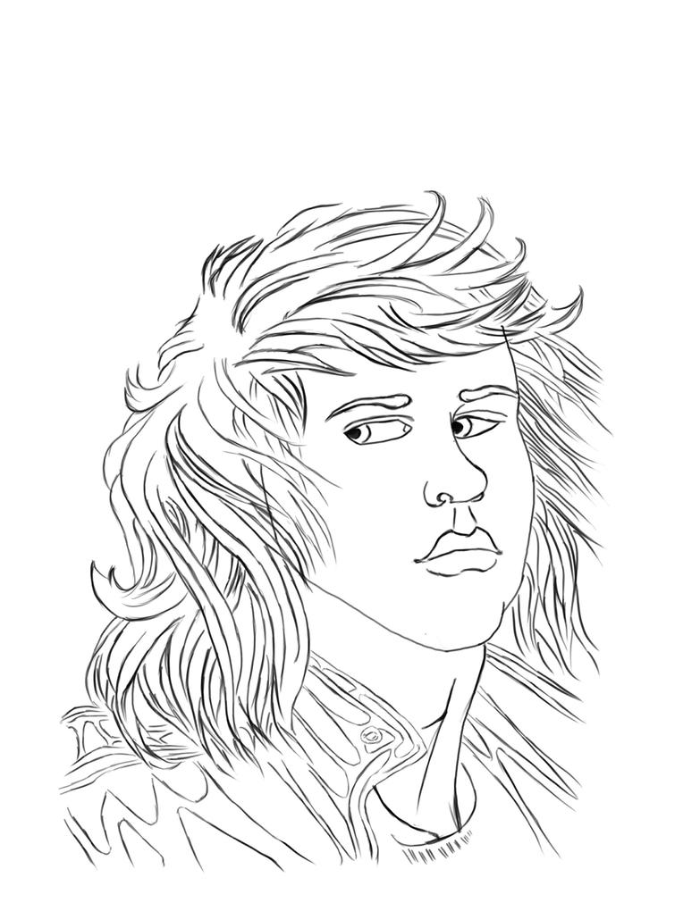 Line Drawing Portrait Artists : Line drawing of the self portrait by awesomeeddy on deviantart