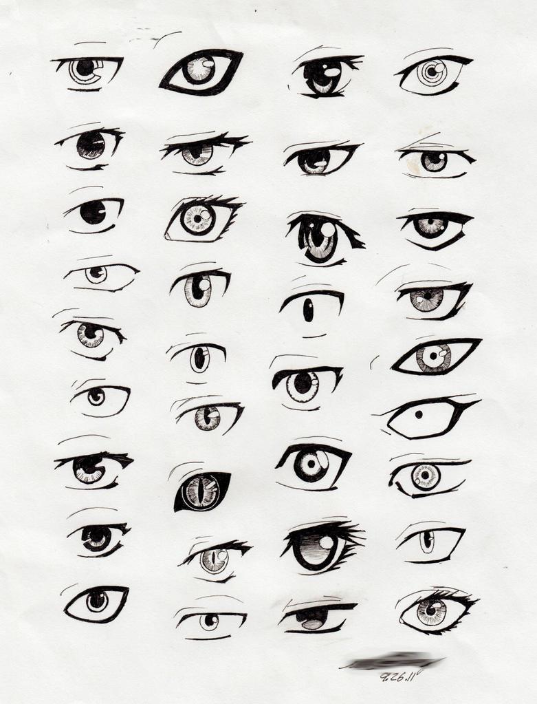 Anime Eyes by Ufuru18 on DeviantArt