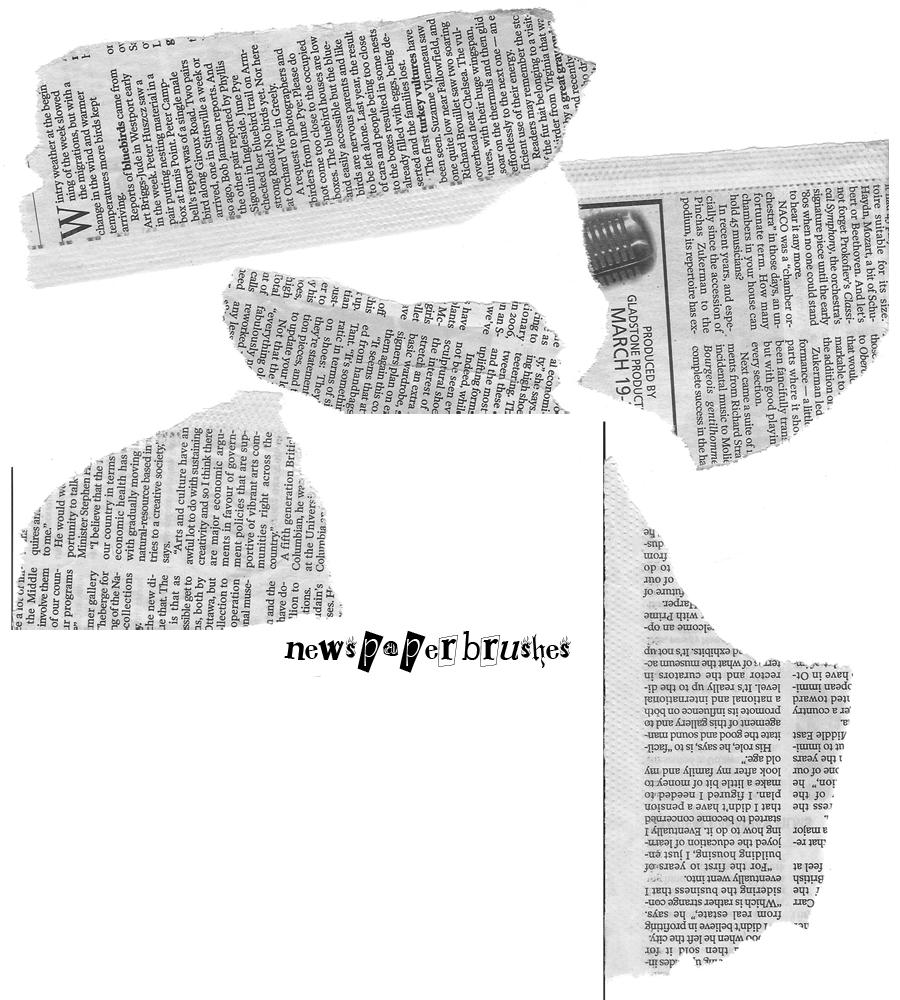 Torn Newspaper Brushes By SarawrLee On DeviantArt