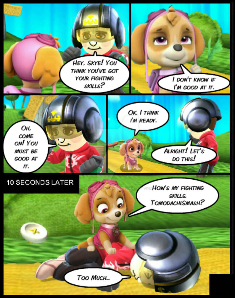 Paw patrol kiss cartoon