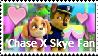 Chase X Skye Fan Stamp by TomodachiSmash