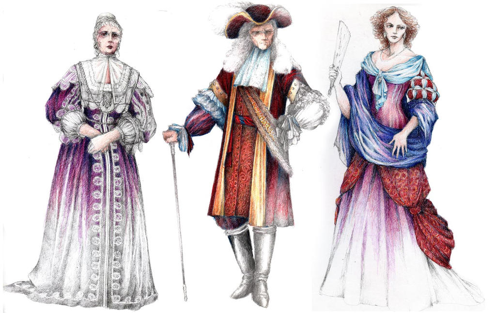 Tartuffe Costumes 3 by ScottAronow