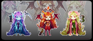 |Open 1/3|- fantasy humanoid girls -|auction| by SnowMaybells