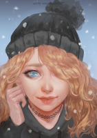 Portrait |commission| by SnowMaybells