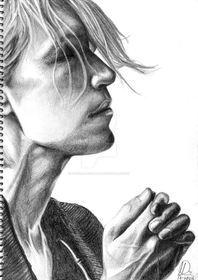 Brandon Boyd BW sketch 3 by PoledraBehemoth