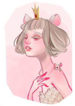 drawtober d-07 // rat queen