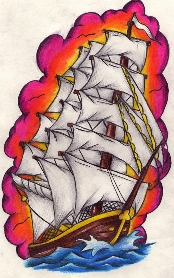 Ship tattoo by Nevermore-Ink on DeviantArt