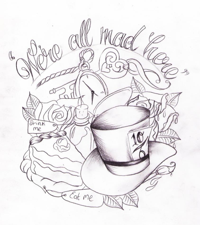 My Alice in wonderland mad tea party tattoo! | Party ...  |Alice Tea Tattoo