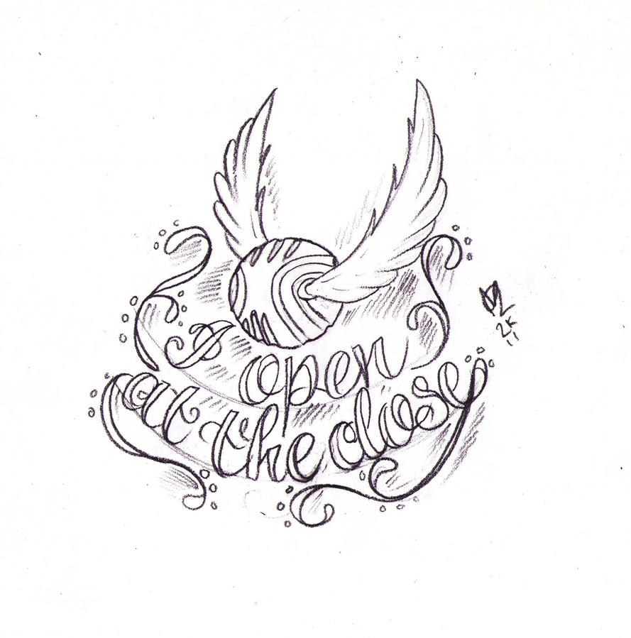 Golden Snitch Tattoo Sketch by Nevermore-Ink