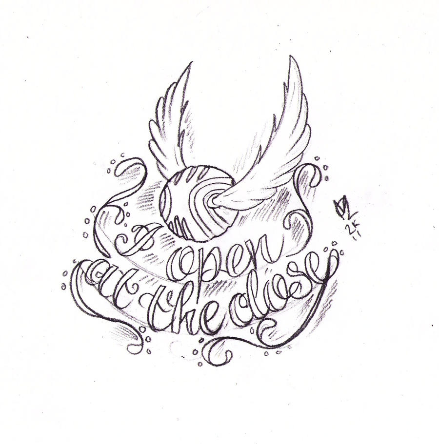 Golden Snitch Tattoo Sketch by
