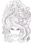 maritime hair tattoo sketch