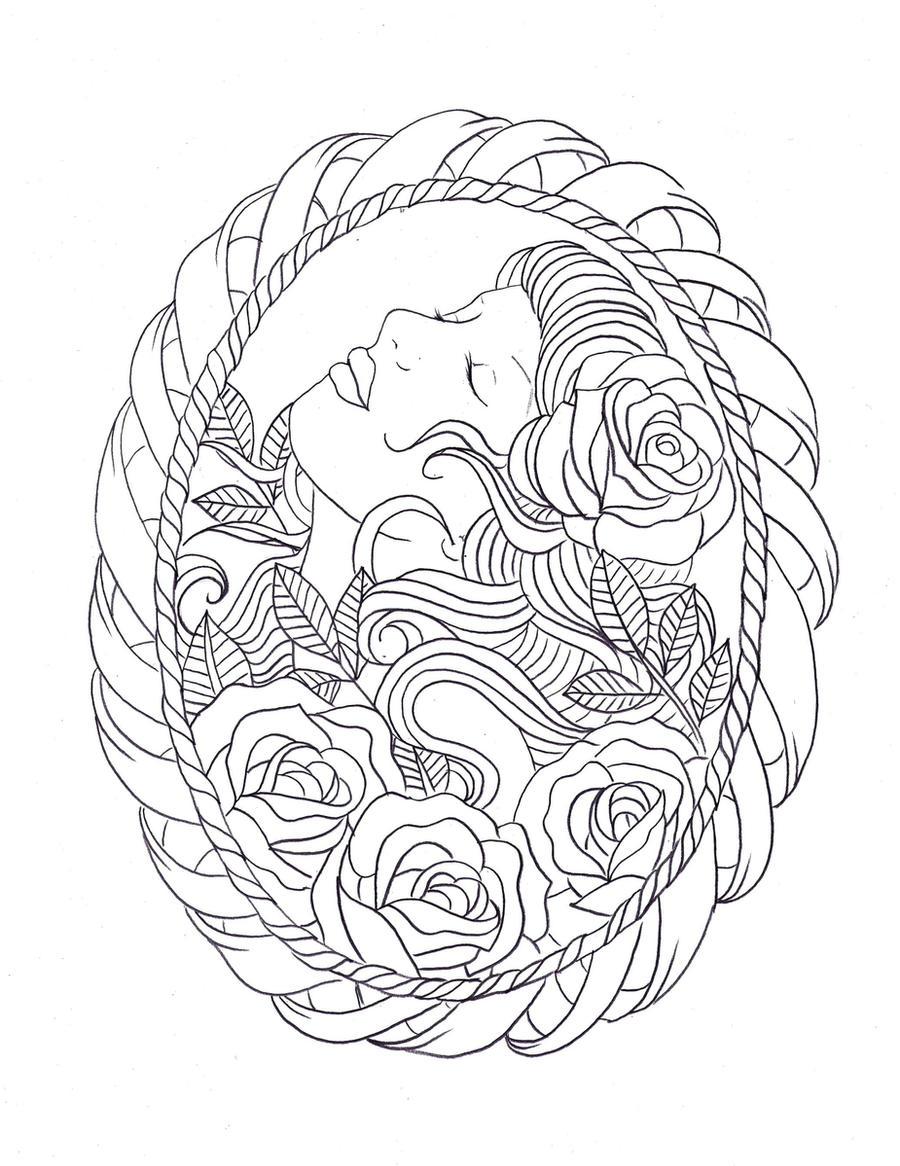 frame tattoo design by nevermore ink on deviantart. Black Bedroom Furniture Sets. Home Design Ideas