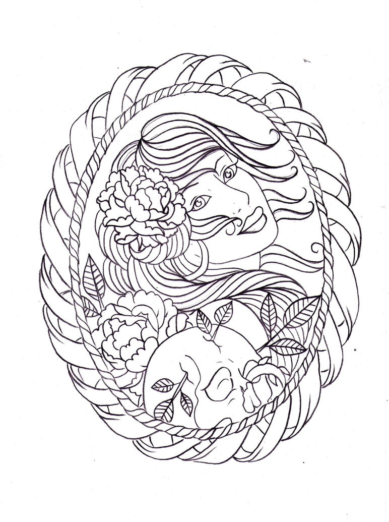 frame tattoo design 2 by nevermore ink on deviantart. Black Bedroom Furniture Sets. Home Design Ideas