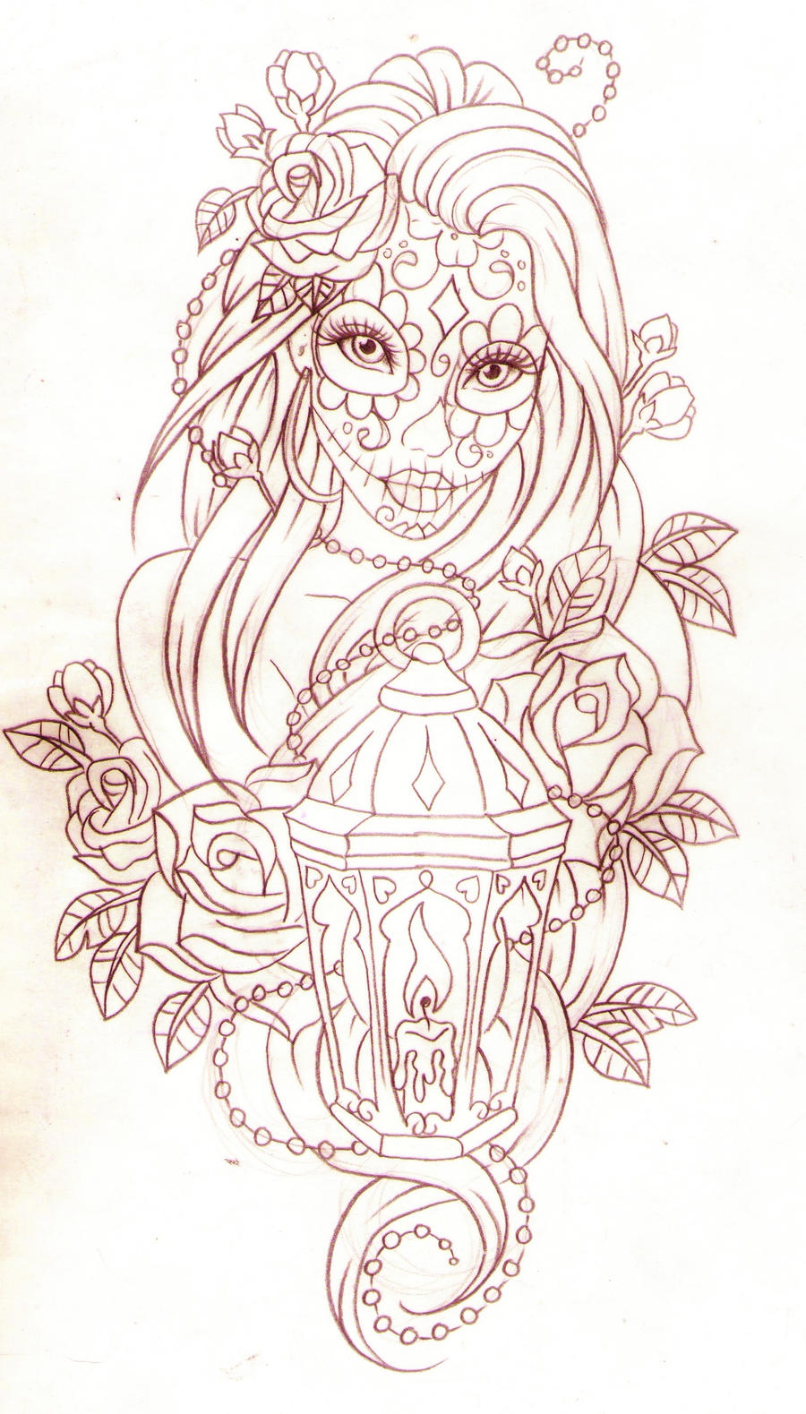 Day Of The Dead Lantern By Nevermore Ink On DeviantArt