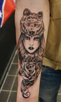 Wolf headdress Tattoo