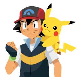vector ash ketchum and pikachu by b33be