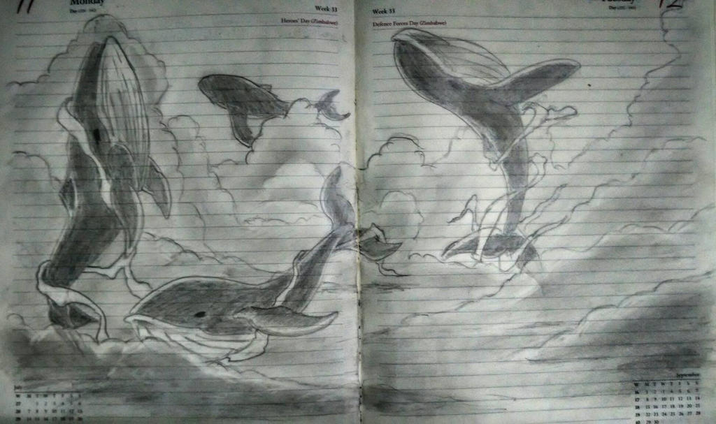 flying whales by Elfen11