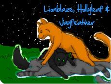 Jayfeather-Lionblaze-Hollyleaf  playing by Greymoon-Skyshimmer