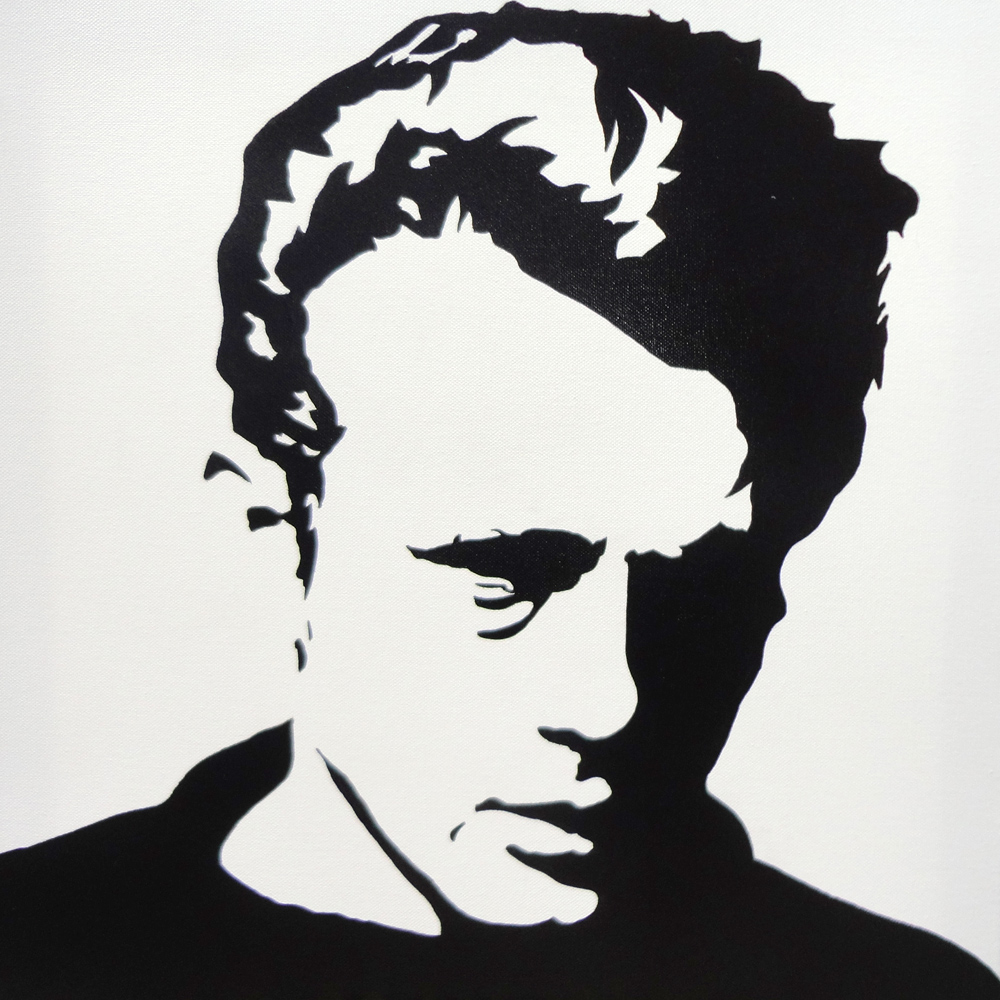 james dean black and white painting - photo #26