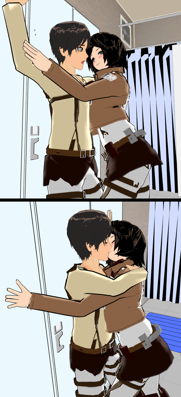 Eren and Mikasa: Fun in the Locker Room?! by HumbertandKlaus
