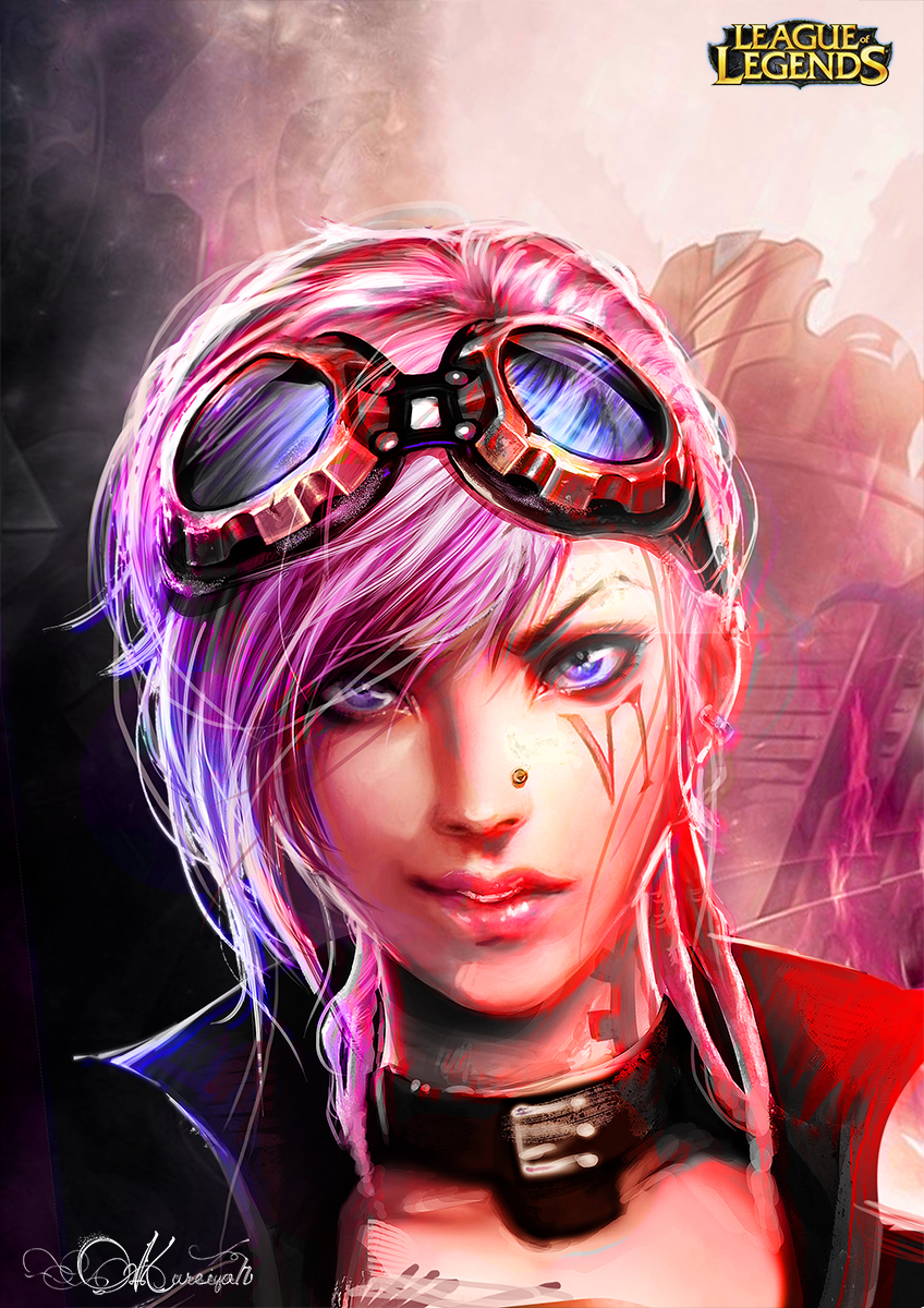 Vi Portrait_League of Legends by Kureiyah on DeviantArt