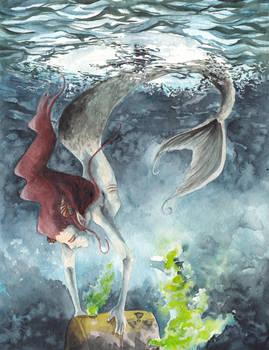 Mermaid in north sea