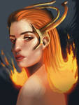 Fire Witch by Deonaa
